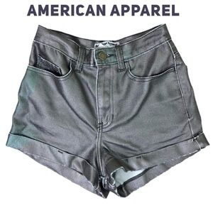American Apparel Holographic Denim Booty Shorts